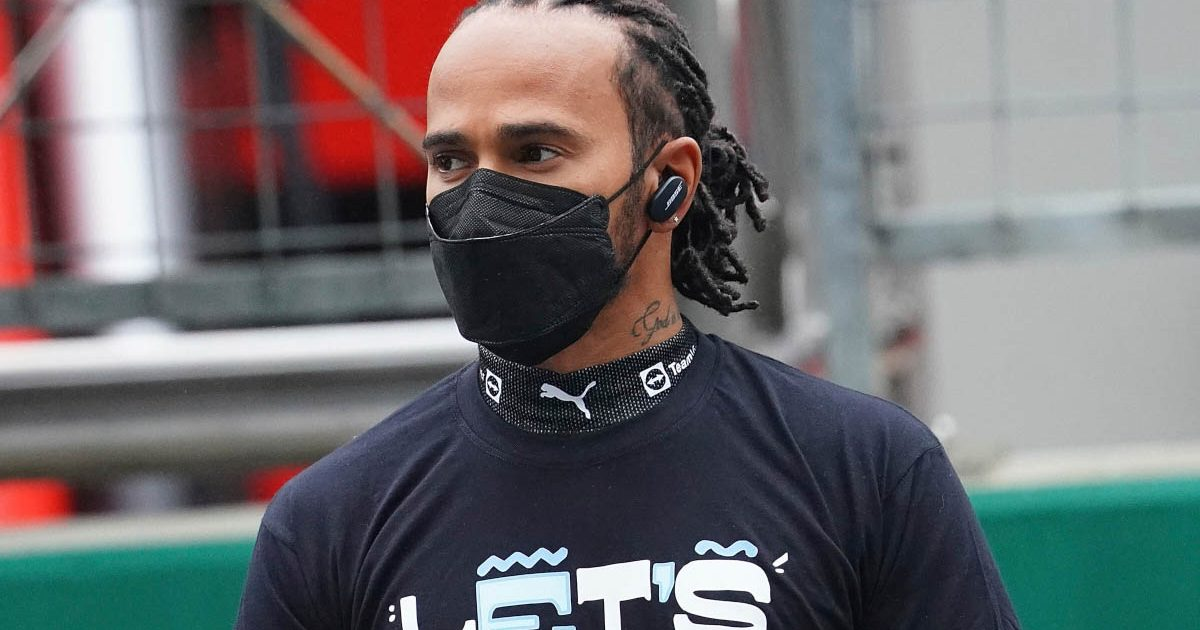 Lewis Hamilton on the grid in Turkey. Istanbul October 2021.