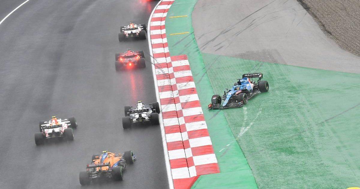 Pierre Gasly sends Fernando Alonso into a spin. Turkey, October 2021.