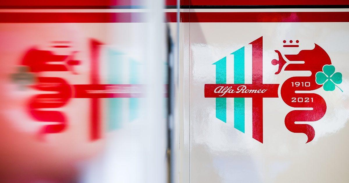 The Alfa Romeo garage wall. Italy September 2021