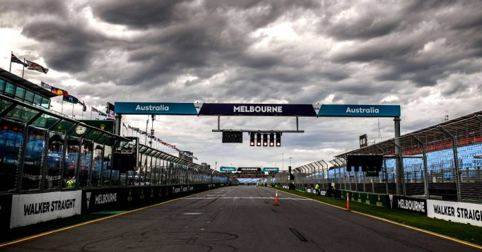 A view down the main straight at Albert Park. Australia, March 2020.