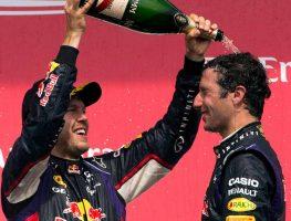 Red Bull drivers Sebastian Vettel and Daniel Ricciardo. Canada 2014.
