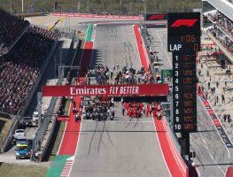 United States Grand Prix starting grid. Austin November 2019.
