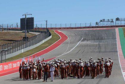 The run up to Turn 1 at COTA. United States GP November 2019.