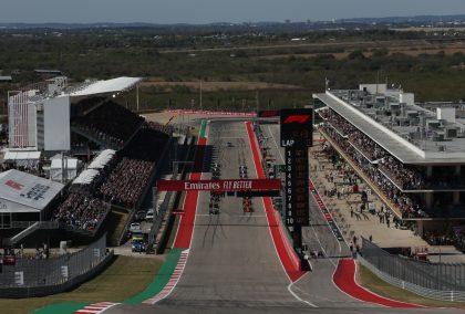 The starting grid at the United States Grand Prix. United States November 2019
