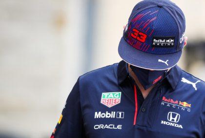 Max Verstappen向下看。奥斯汀2021年10月